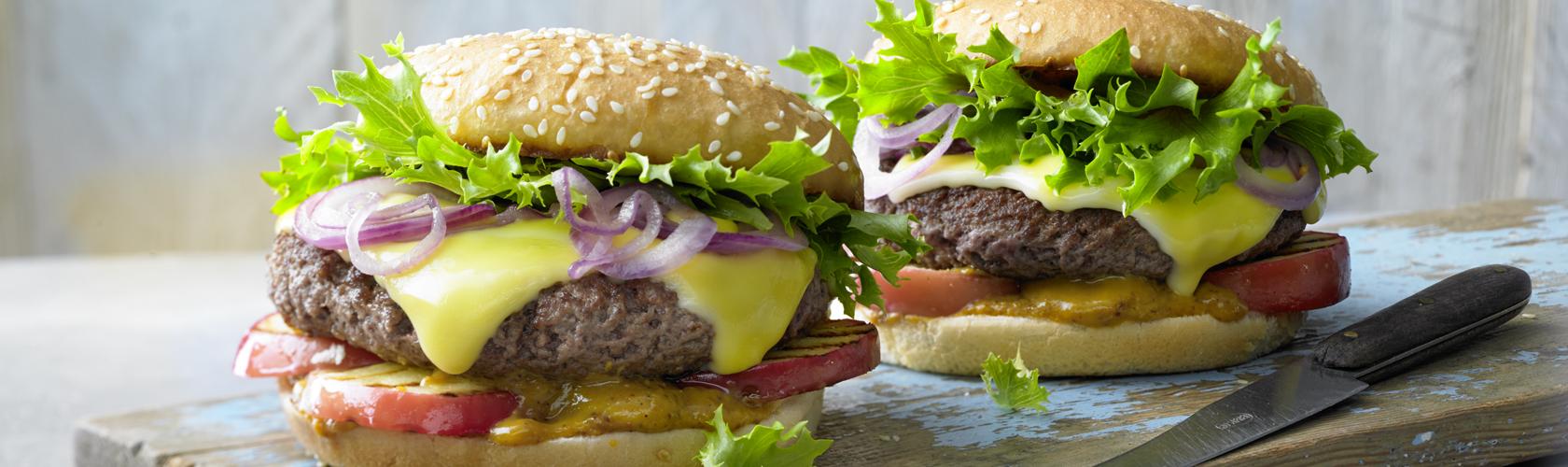 Burger auf Beefhack