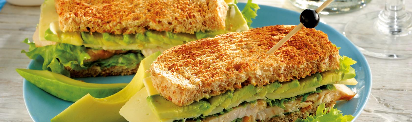 Club Sandwich mit Käse