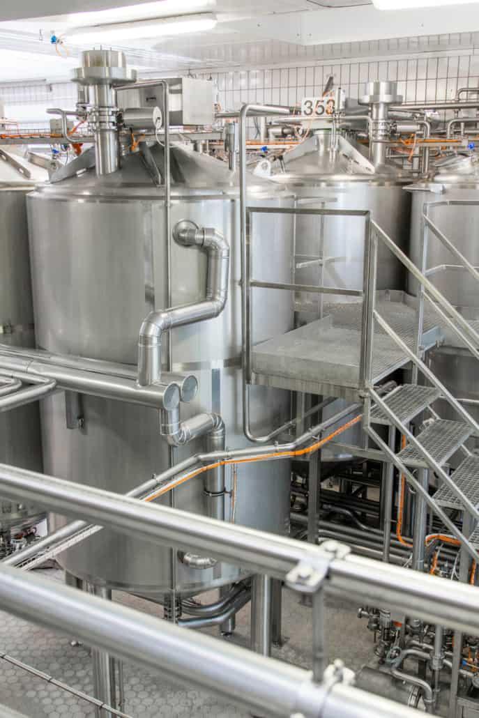 Produktionsmaschinen der Molkerei Rücker