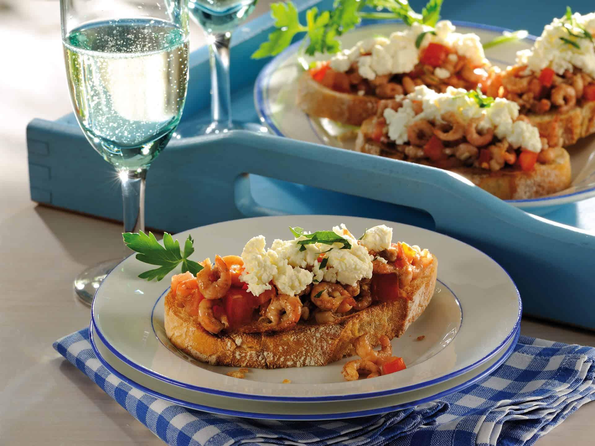 Krabbenbrot mal anders – mit Tomate und Käse
