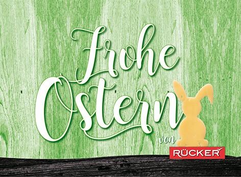Frohe Ostern Postkarte von Rücker