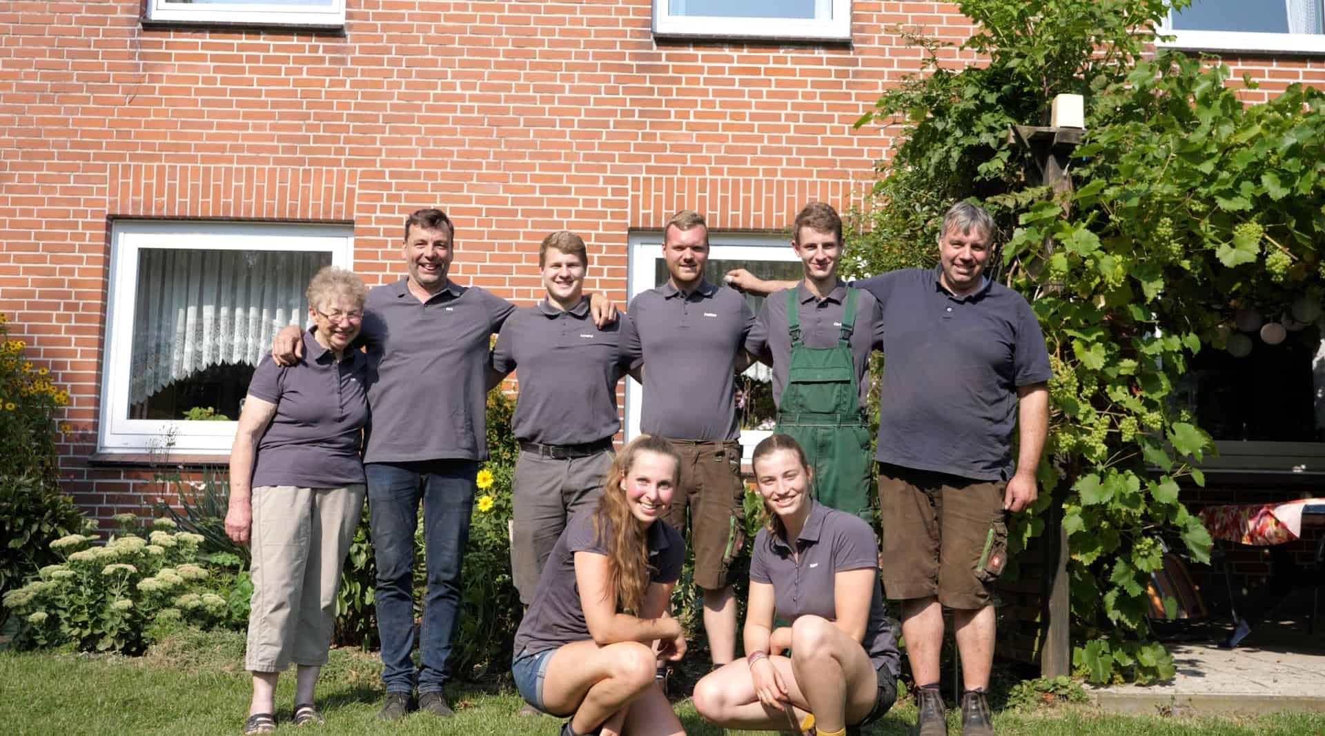 Landwirt Dirk Huhne und seine Familie