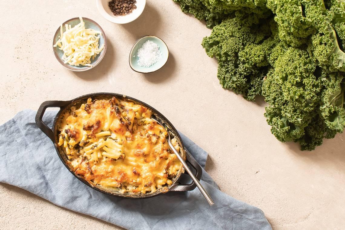 Mac and Cheese mit Grünkohl