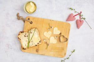 Herz aus Käse für Kinder